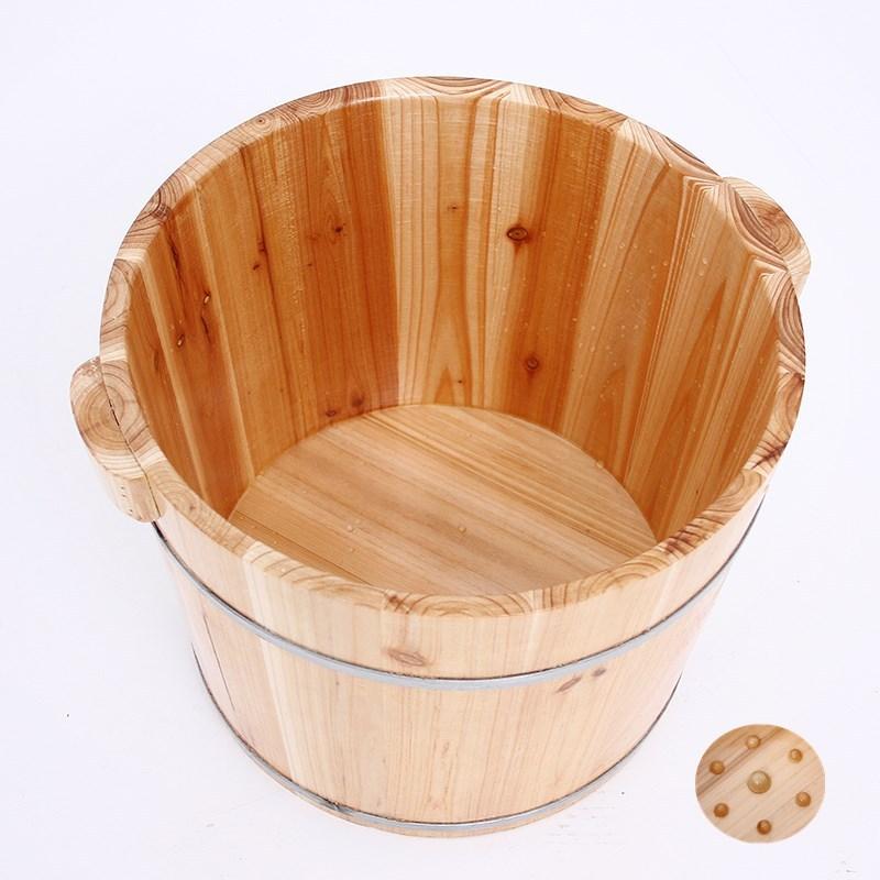 木桶 泡脚桶 洗脚桶 带按摩器木桶