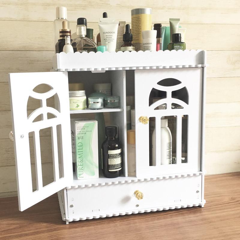 收纳柜 田园置物架 大号抽屉式收纳盒 桌面化妆品收纳