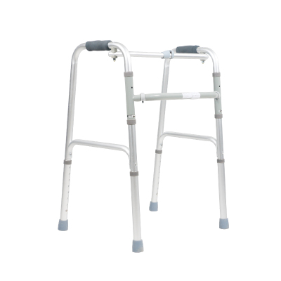 可孚老人拐杖残疾人助步器铝合金四脚拐杖手脚不便助行拐棍老年人可伸缩拐棍KFZX610不带轮 Cofoe
