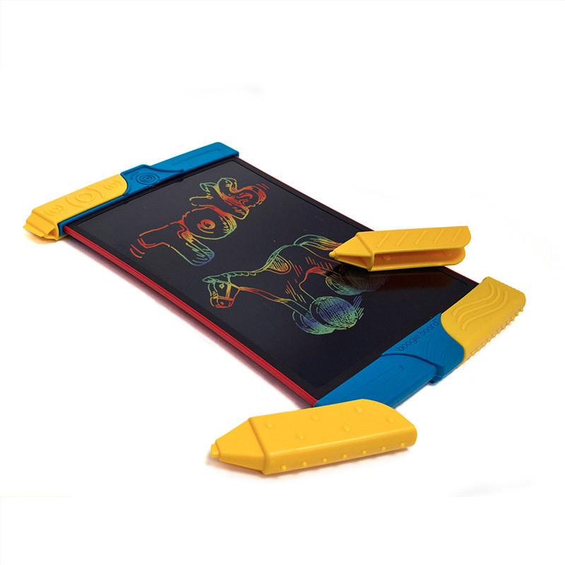 美国boogieboard儿童电子画板手绘板scribble手写板液晶彩虹色 小黑板