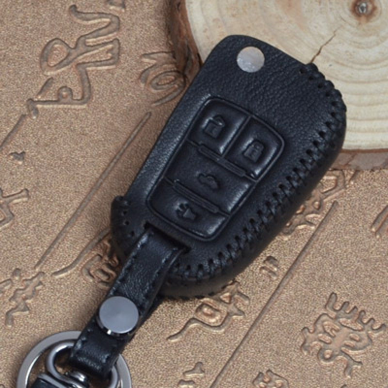 曼迪别克汽车真皮钥匙包 新英朗君威君越钥匙壳 昂科威钥匙套扣 男女
