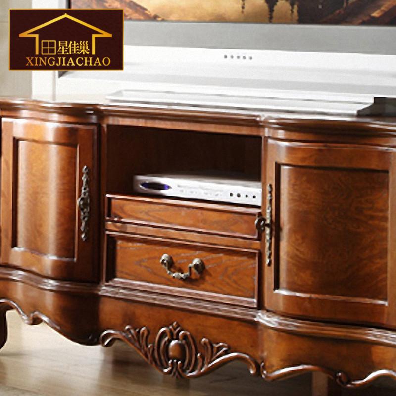 星佳巢 美式乡村卧室实木电视柜 欧式客厅小型电视柜
