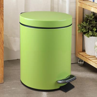 欧式不锈钢垃圾桶 脚踏式家用圆形厨房卫生间卧室