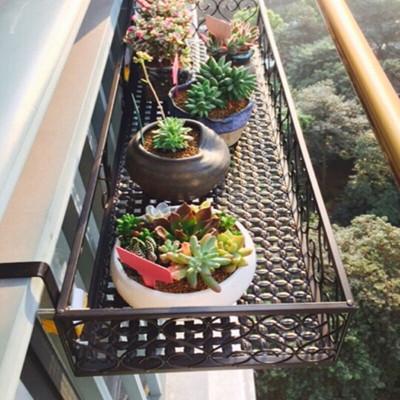 多肉栏杆花篮阳台室内铁艺花架壁挂式悬挂花盆架子