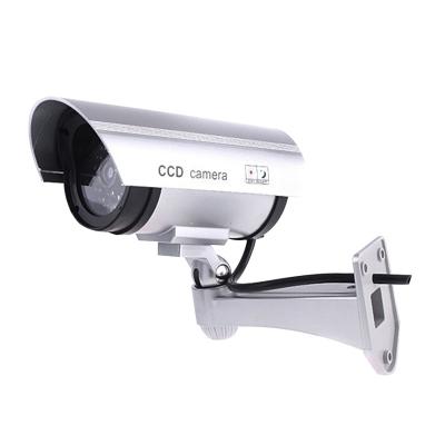 仿真攝像頭假監控攝像頭仿真監控假攝像頭帶燈槍式防雨室外可用 工程塑料支架。
