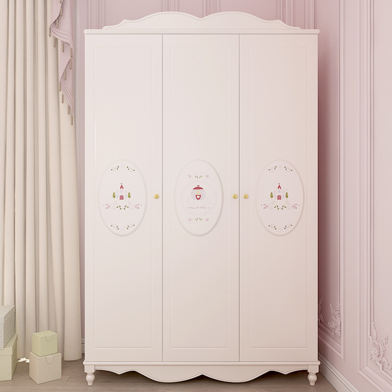 七叶木衣柜 简约欧式二门三门衣柜 可爱卡通衣橱儿童家具收纳柜图片