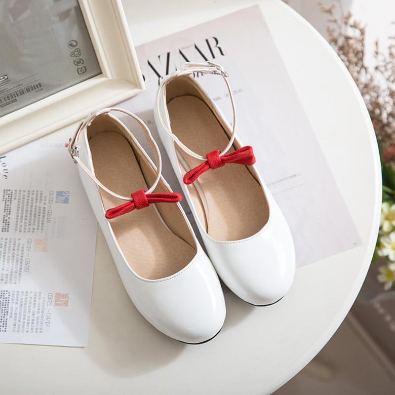 2017春季休闲鞋新款女鞋甜美乖乖公主学生娃娃鞋平底舒适圆头单鞋