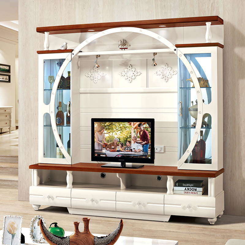 欧式电视柜组合 背景墙柜