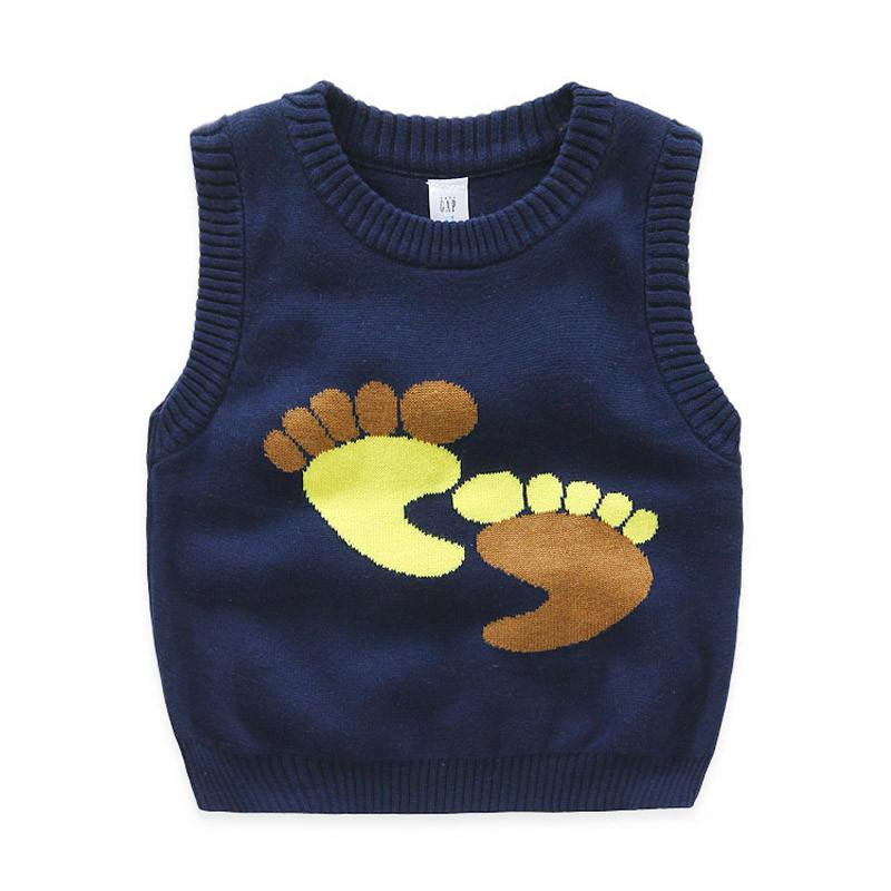 儿童马甲童装春秋款宝宝纯棉小童针织背心小孩坎肩男童马夹外套潮