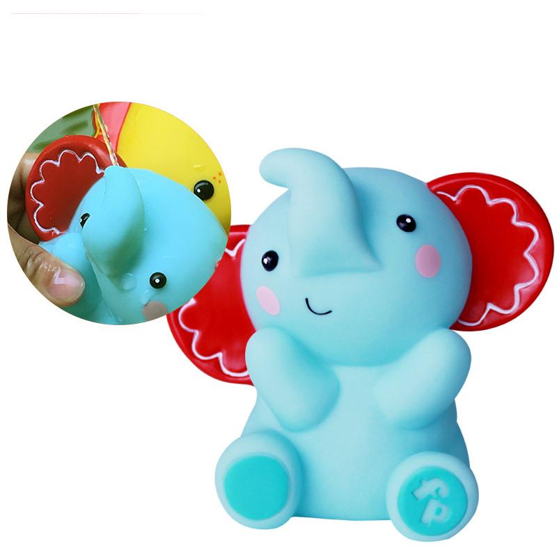戏水玩具pvc儿童洗澡玩具 儿童宝宝沐浴喷水捏捏叫玩具f0202小象图片