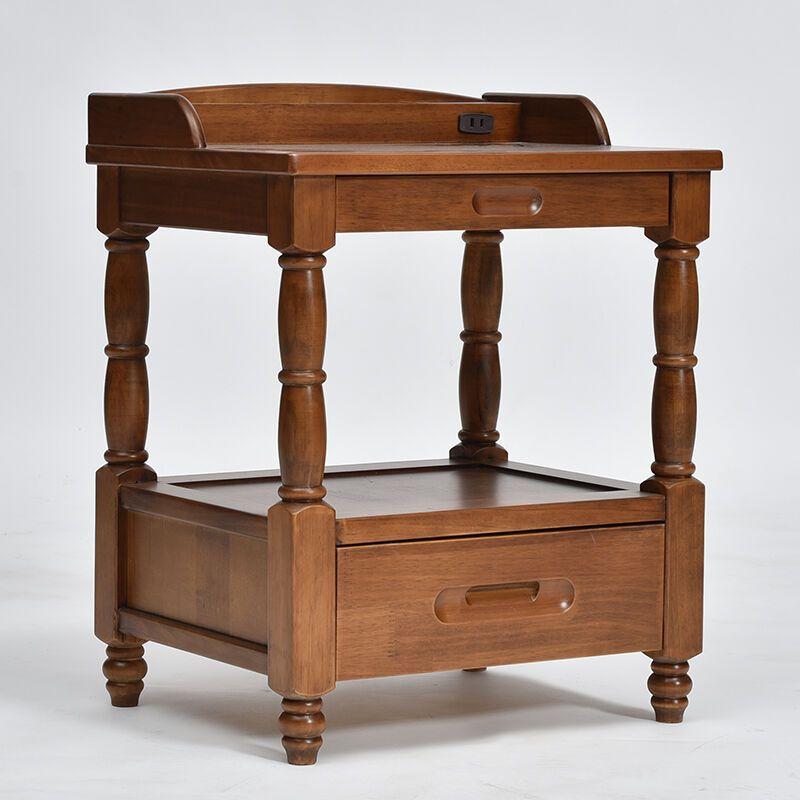 柒小木家具 沙发边柜实木 边几现代简 约储物客厅角几