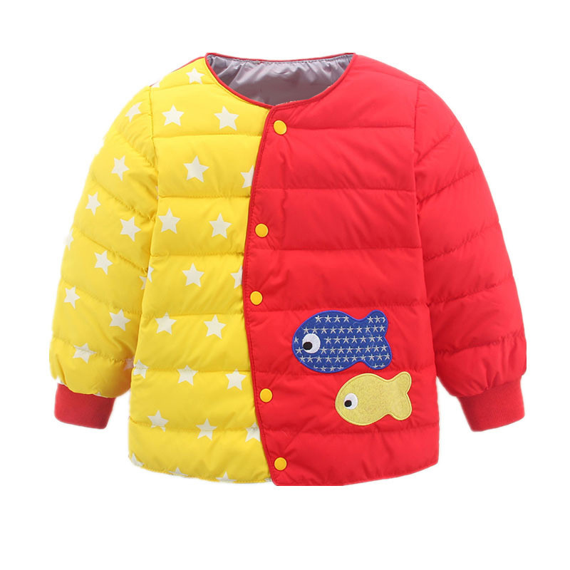 儿童羽绒服内胆秋冬新款中大童保暖衣绣花卡通外套