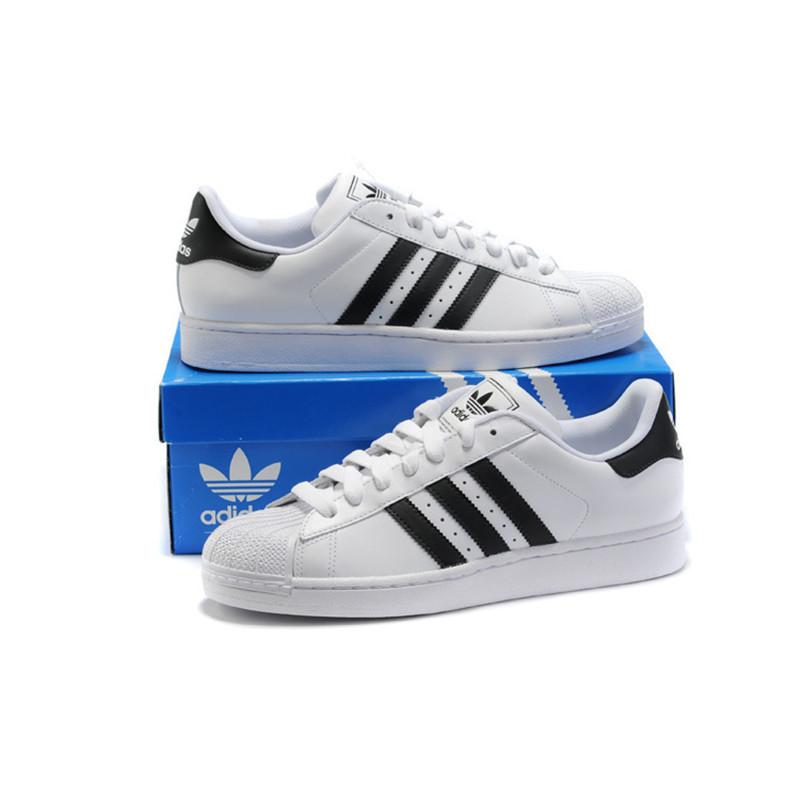 adidas neo 男式 经典三条纹贝壳头运动休闲板鞋
