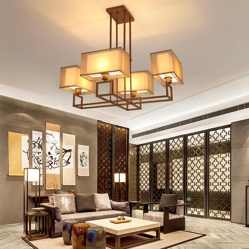 海斯锐 新中式吊灯客厅吊灯简约复古吊灯酒店别墅工程