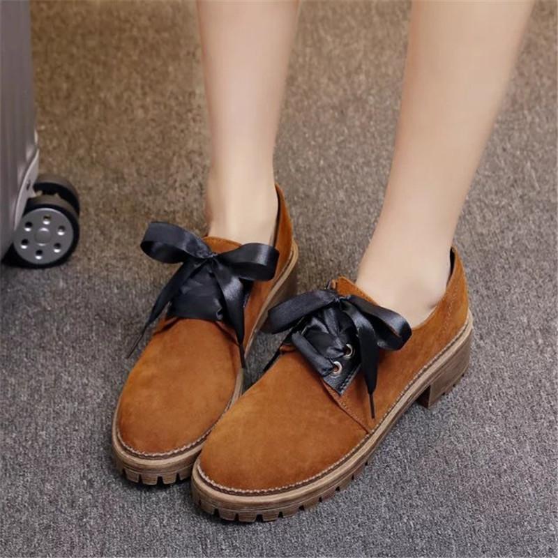 春季女潮单鞋英伦风布洛克女鞋复古小皮鞋粗跟磨砂中跟工作鞋yc-2018图片