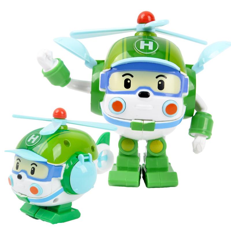 超级飞侠 新款升级大号韩国变形警车珀利机器人波利变型警察儿童玩具