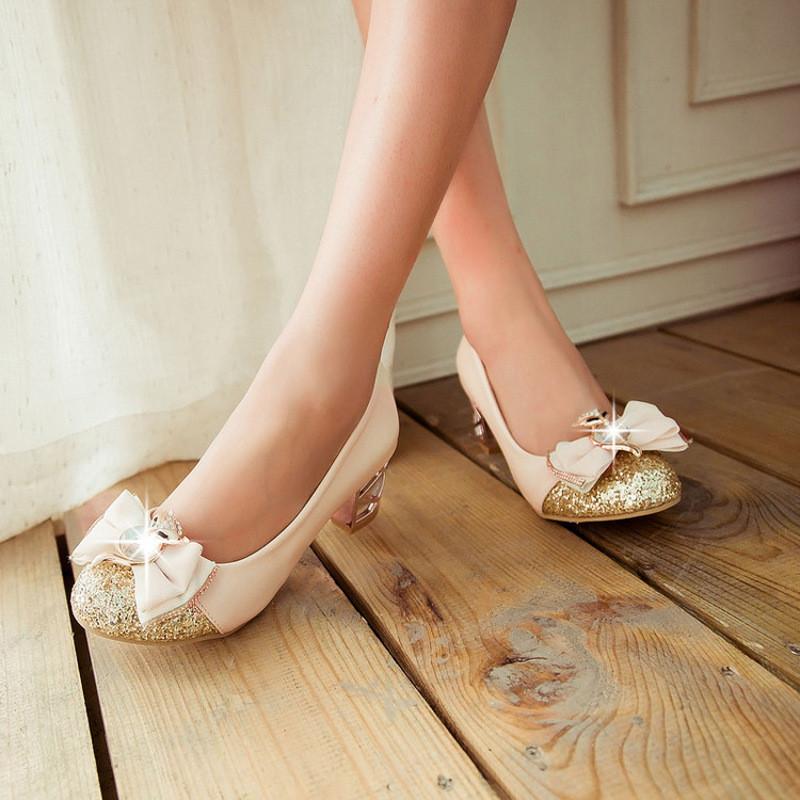 儿童灰姑娘水晶鞋公主高跟鞋10岁女童春大童单鞋夏皮鞋水钻表演女c18