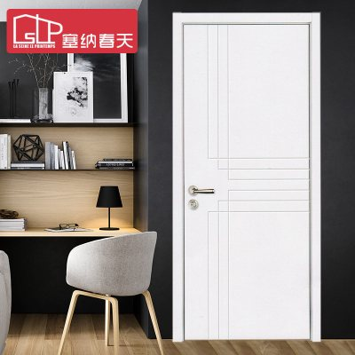 塞納春天 木門室內白色套裝門實木復合門烤漆門定制房門
