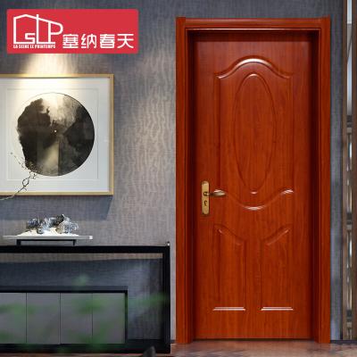 塞納春天木門 室內門套裝門實木復合烤漆門房門臥室門型號190