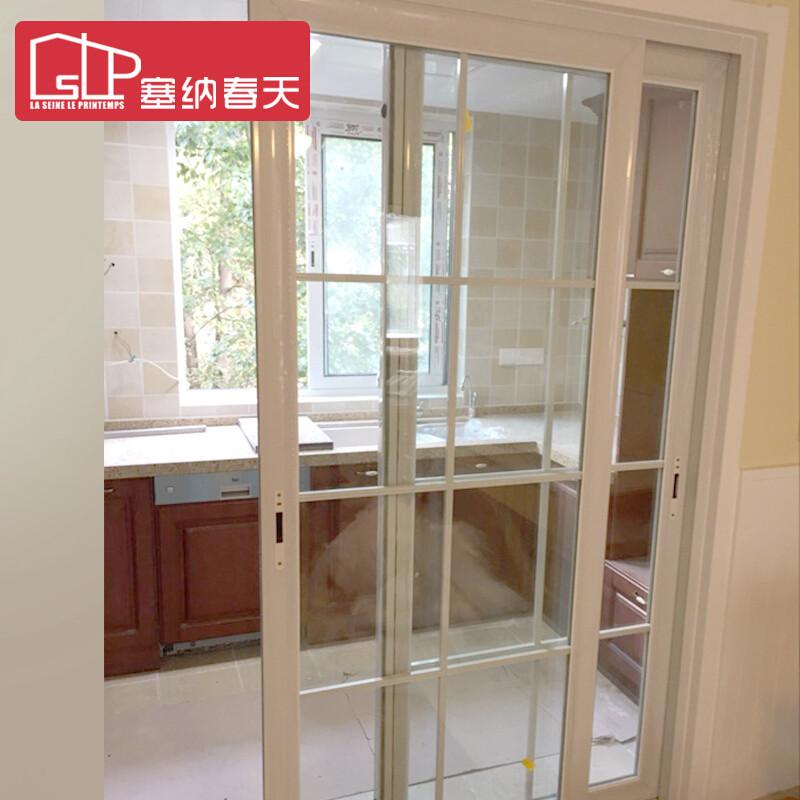 塞纳春天推拉门 厨房卫生间门阳台推拉门 定制移门厨卫门钛镁合金玻璃