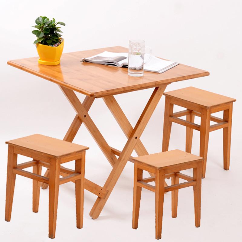 意雕(yd) 凳子时尚简易家用板凳餐桌凳现代简约方凳防滑楠竹圆凳子餐