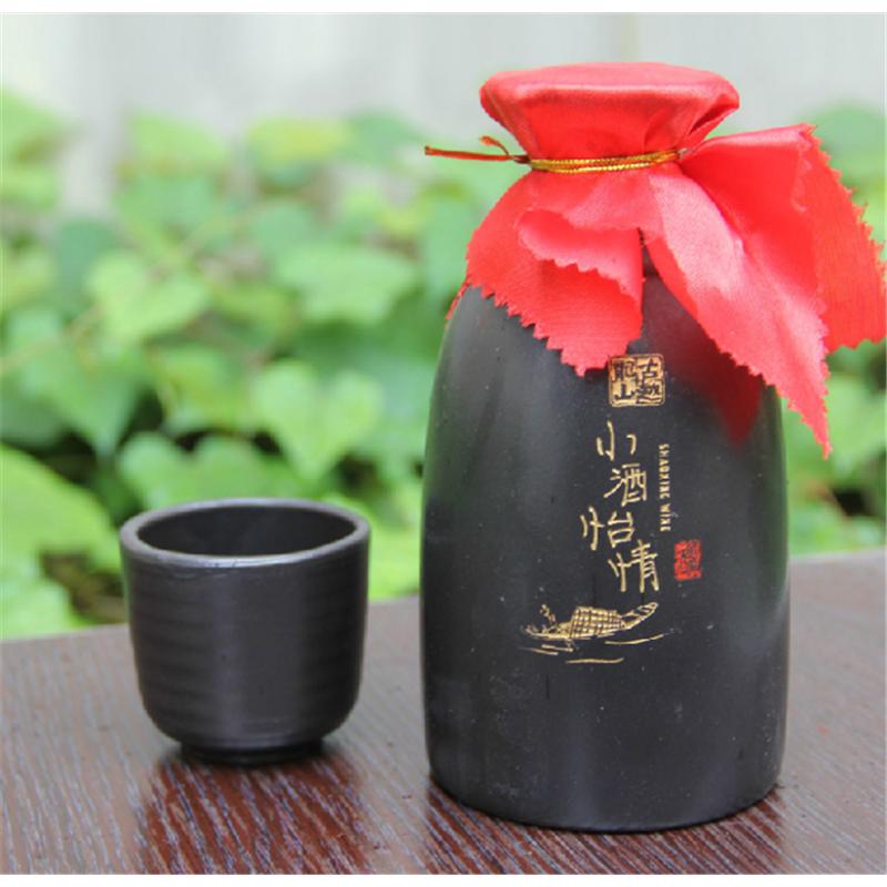 花雕酒_绍兴黄酒 古越龙山八年陈小酒怡情糯米花雕酒礼盒350ml