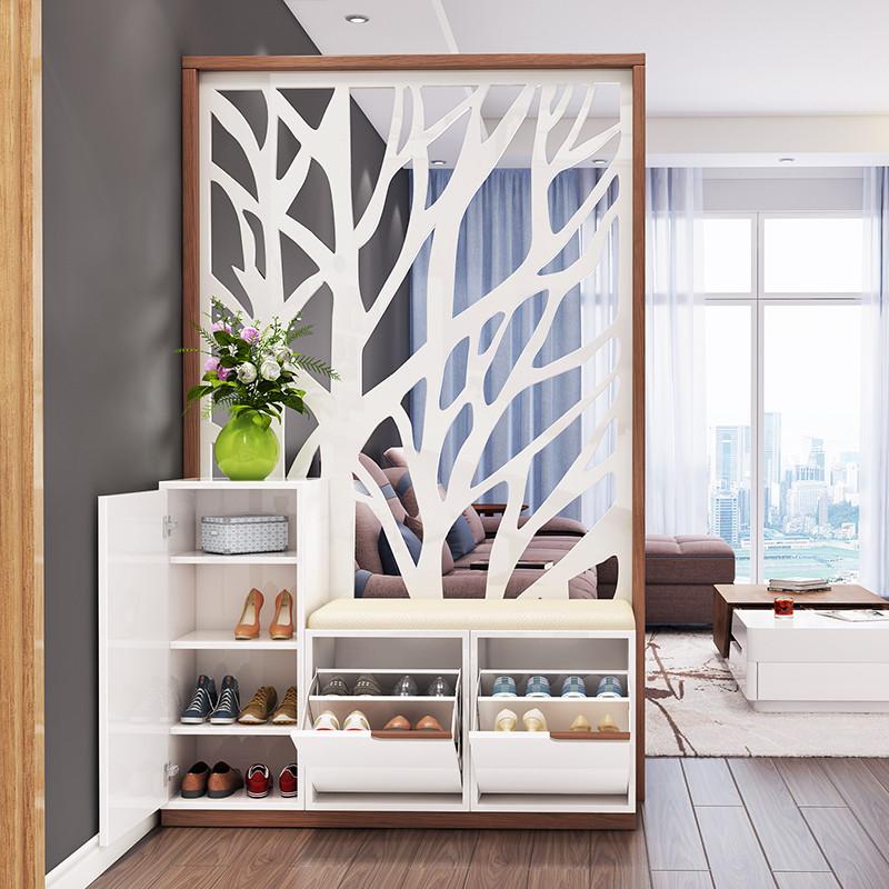 乐私 门厅 鞋柜 简约现代 玄关柜隔断柜屏风连体两用客厅家具图片