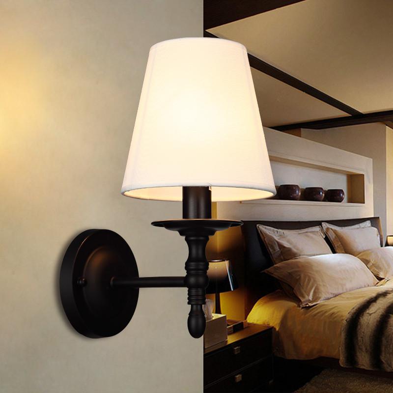 左革燈飾壁燈美式壁燈臥室鐵藝單頭壁燈客廳壁燈電視背景墻雙頭壁燈