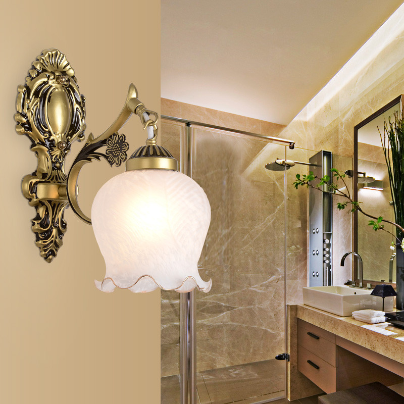 左革灯饰美式铁艺单头壁灯客厅电视背景墙双头壁灯餐厅壁灯卧室床头图片