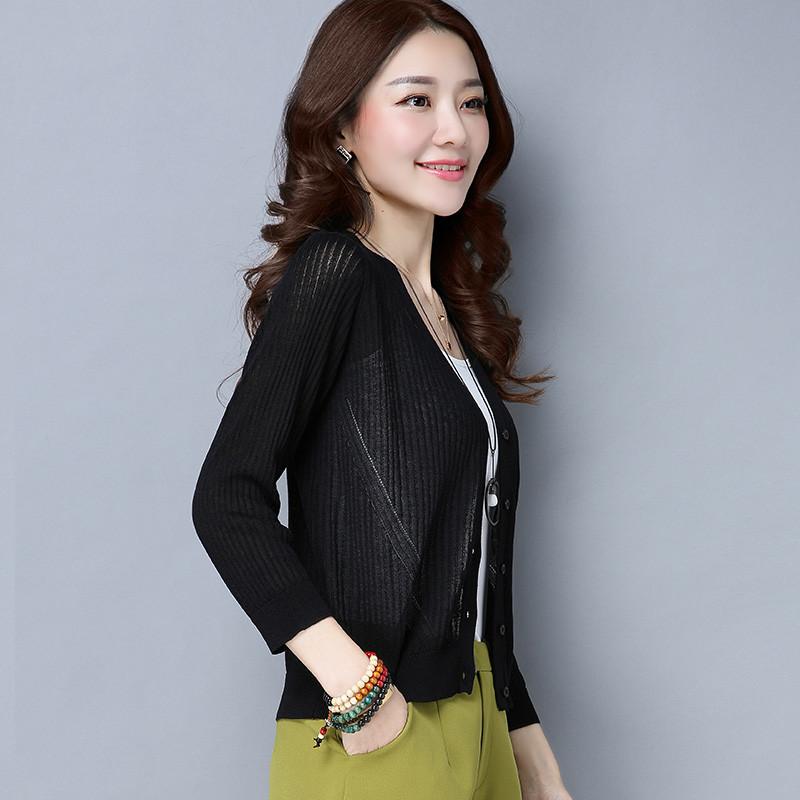 珍真羊 春装新款韩版宽松大码薄款打底针织衫短款纯色