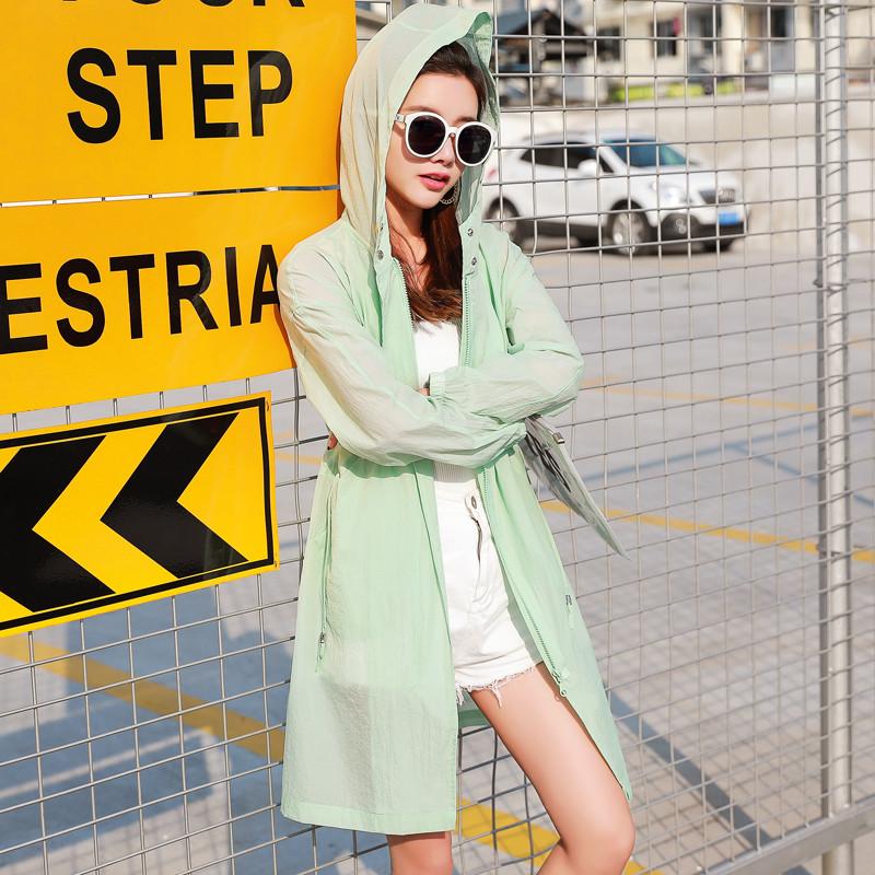 珍真羊 夏季新款防晒衣沙滩防晒服薄中长款宽松大码纯色短外套品牌