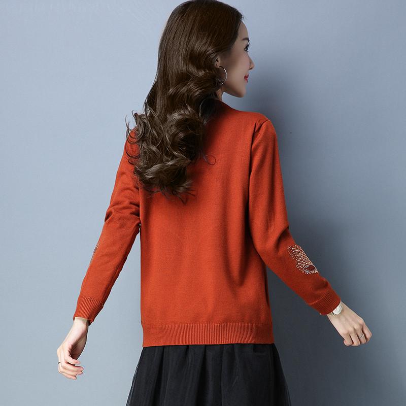 珍真羊 秋冬季新短款毛衣双层加绒保暖针织衫休闲打底