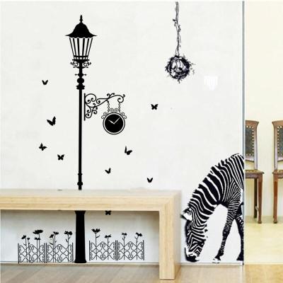 品贴画玄关创意欧式路灯背景墙壁贴纸个性餐厅墙贴