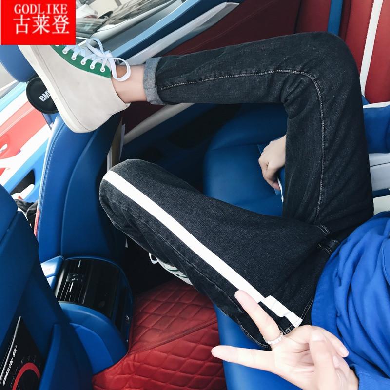 古莱登你的男孩TT同款裤子秋季Bf风潮男条纹
