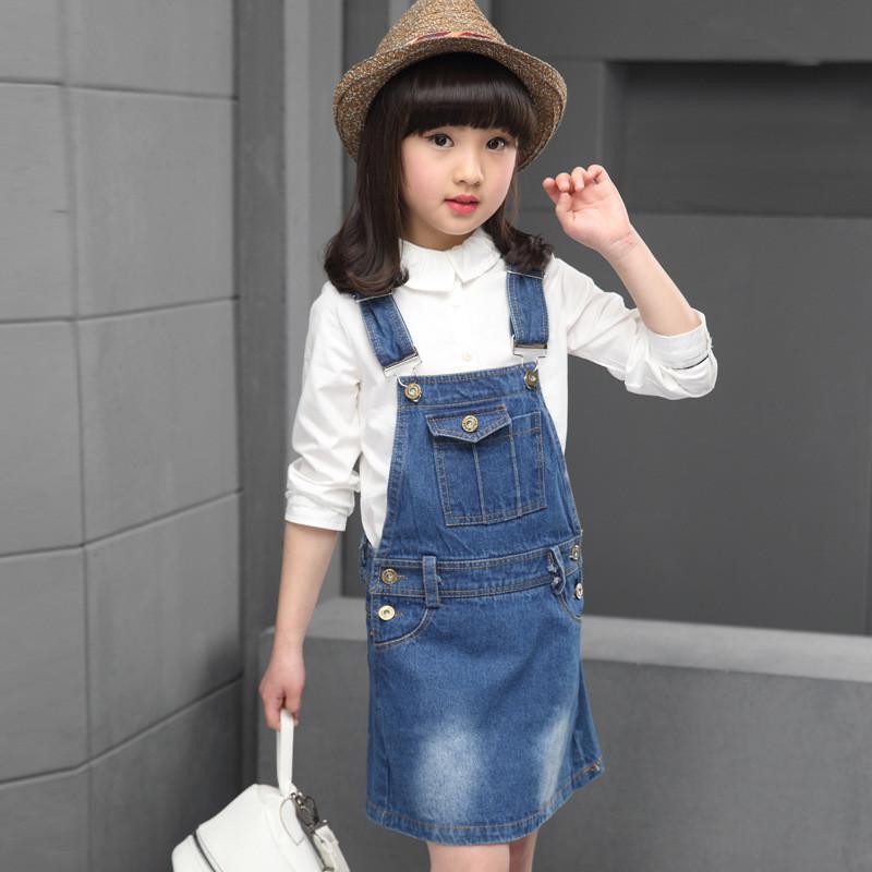 萱诗慕2017童装女童背带裙