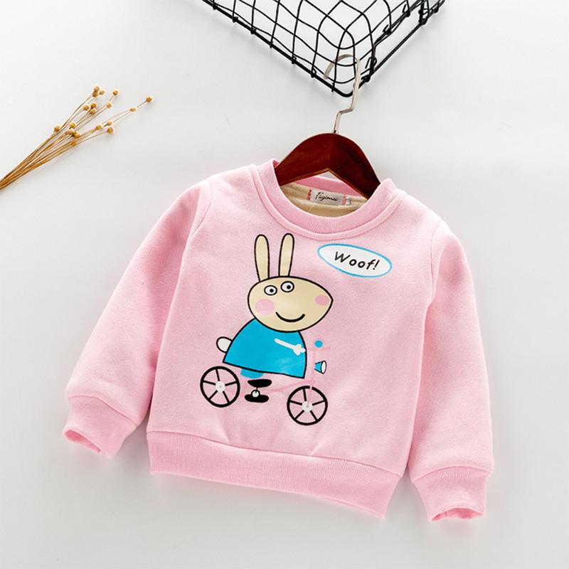 小龙王女童新款2016冬款加绒加厚上衣女童装保暖佩佩猪卡通上衣卫衣