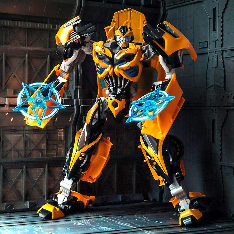 路霸 变形金刚4玩具机器人 大黄蜂合金版拼装钢索恐龙