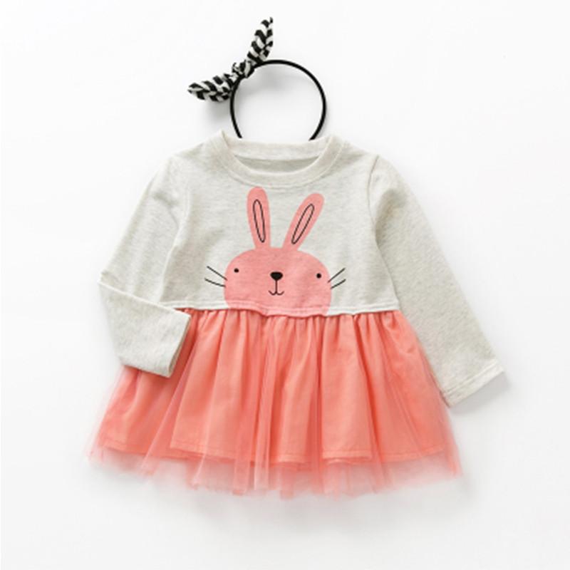 宝宝棉上衣裙秋季婴儿长袖女童装可爱卡通短裙子短款2017秋装秋款