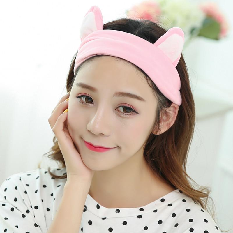洗脸发带发箍猫耳朵束发带韩国可爱头饰头巾女敷面膜化妆发