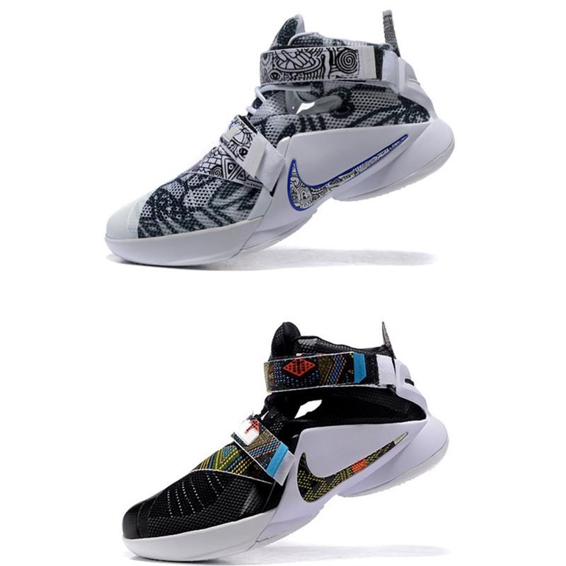 耐克 专柜正品詹姆斯士兵9代篮球鞋男子战靴奥利奥运动鞋青花瓷街球j6图片