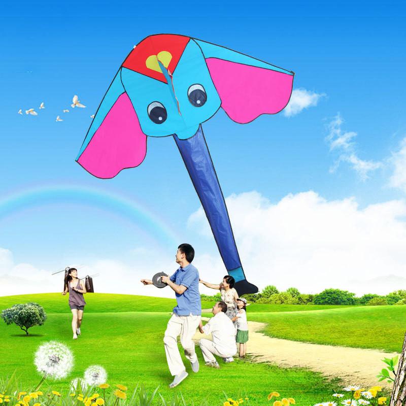 风筝 儿童卡通风筝 三角风筝 1.7米小飞象风筝 立体尾巴好飞