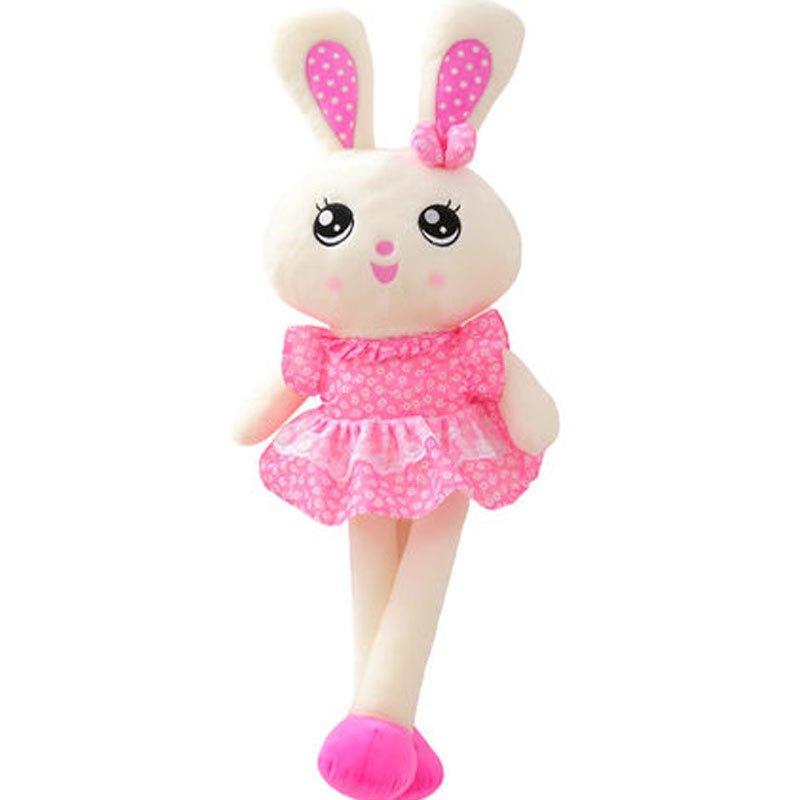可爱卡通兔子小孩子毛绒玩具 流氓兔玩偶女生布娃娃可爱儿童抱枕女孩