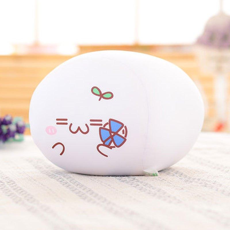 男女宝宝玩具表情团子可爱长草颜表情团子文字君公仔靠枕泡沫粒子抱枕