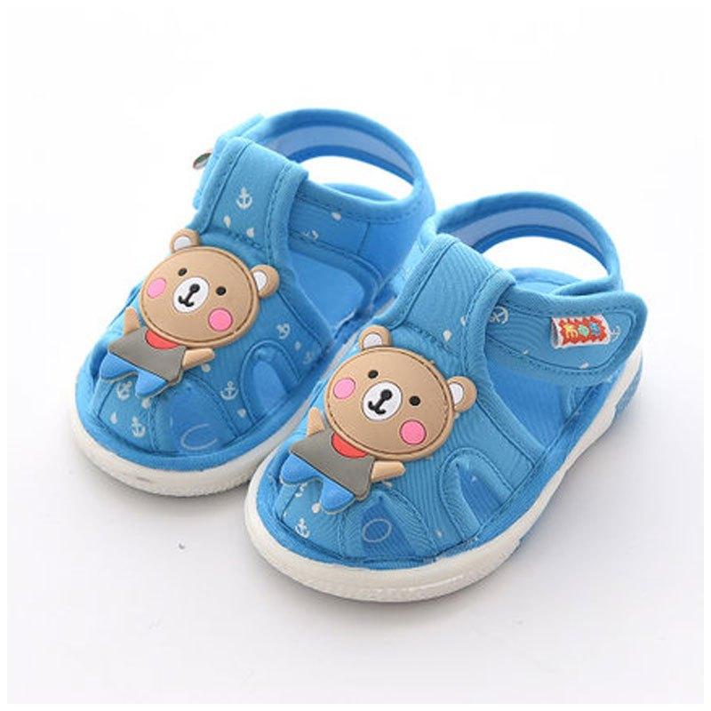 防滑软底儿童布凉鞋春夏男童女童鞋2017新品可爱简约休闲男女宝宝鞋子