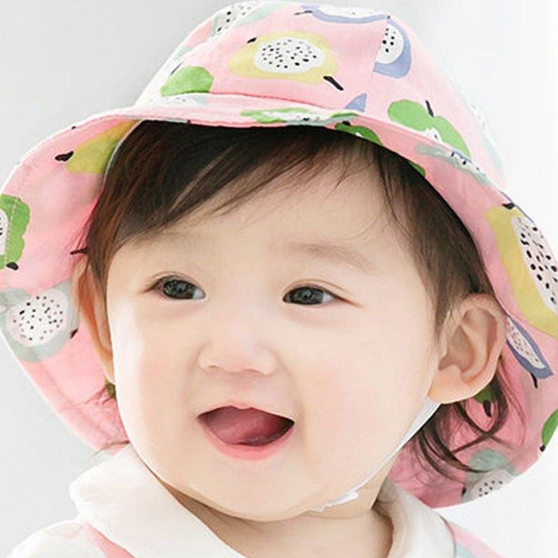 帽子遮阳帽大檐太阳帽防晒渔夫帽夏季2017新品可爱简约印花帽子小孩子