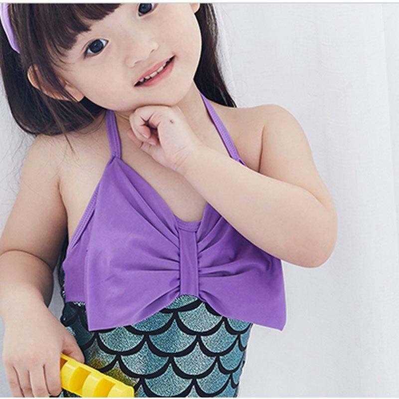 2017新品夏季可爱简约卡通儿童泳衣女孩婴儿幼儿泳装超萌公主女童小童