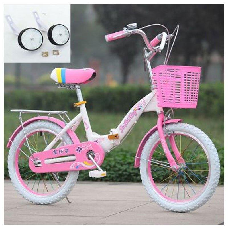2017新品夏季折叠儿童自行车20寸16/18寸女孩单车8-9