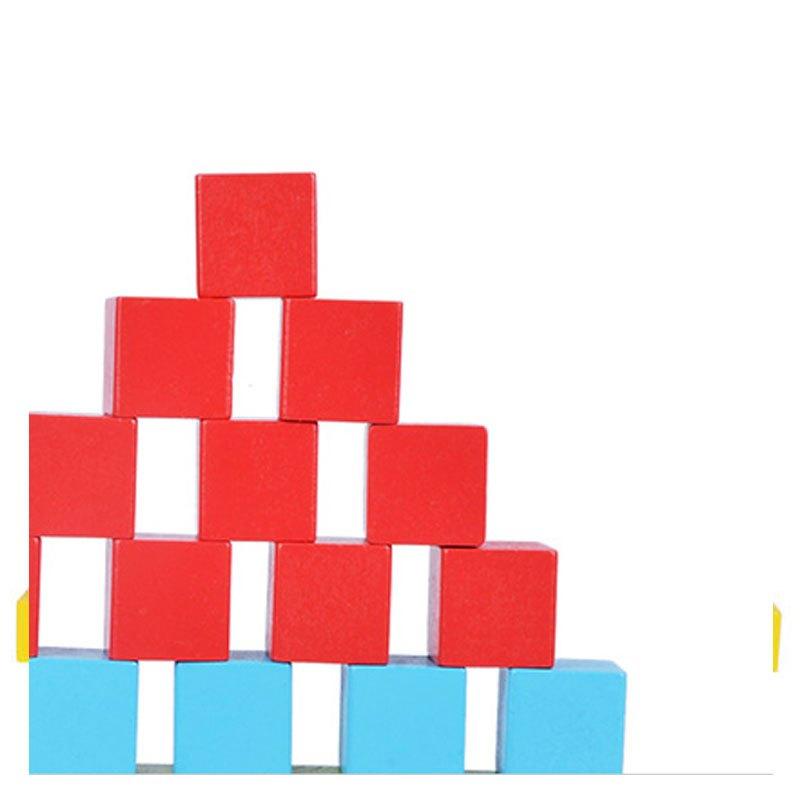 100粒大块木制正方体立方体积木 数学教具儿童益智方块玩具幼儿园当季
