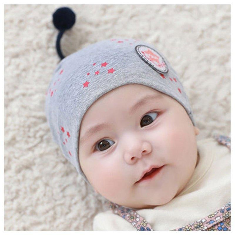 宝宝帽子0-3-6-12个月新生儿帽子胎帽秋冬当季新品可爱卡通简约小清新