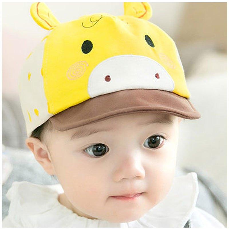 男女宝宝帽子鸭舌帽春夏季防晒遮阳帽当季新品可爱卡通简约小清新帽子